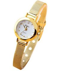 超お買い時590円★小さくて可愛い!レディース腕時計ゴールド