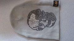 激安83%オフLee、スカル、ニット帽(美品、灰、加工、フリー)