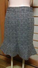 ミッシェルクラン*ツィード柄のひざ丈スカート*サイズ 38 美品