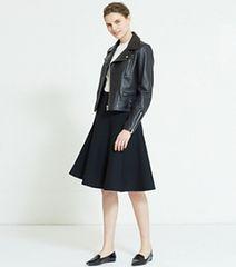 LE CIEL BLEU 人気完売 フィットフレアスカート NVY F