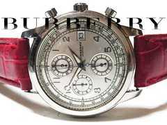 極レア 1スタ★バーバリー/BURBERRY【クロノグラフ】腕時計