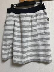 ★ツイード×ボーダースカート  W70★