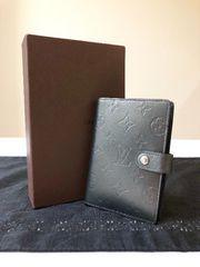 1円 ◆正規品◆ 極美品 ルイヴィトン マット 手帳カバー 黒