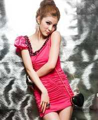 春新作 ドレス ワンピース Mサイズ ピンク