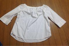 UNIQLO  オフショルダーシャツ 七分袖
