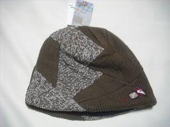 mb214 男 QUIKSILVER クイックシルバー ニット帽 茶