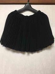 レース★プリーツ★スカート★ブラック★黒