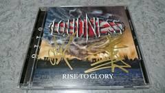 LOUDNESS/ラウドネス CD RISE TO GLORY 二井原&山下サイン入り 通常盤