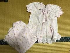 美品 キッズ 半袖 パジャマ ピンク 110
