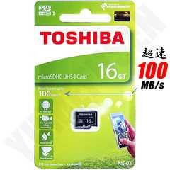 超速100MB/s 東芝 16GB microSDHC Class10 マイクロSD 4K動画対応