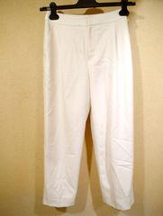 ◆NOLLEY'S Sophi ノーリーズ ストレッチ混 タック パンツ 36白