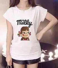 新品★LL3L対応★ぺこちゃんプリント★ストレッチ半袖Tシャツ