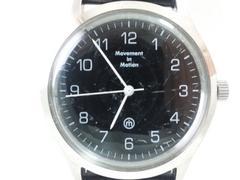 9190/MovementinMotion クラシカルフェイスブラックダイヤルメンズ腕時計