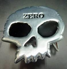90sデッドストックバックルゼロ ZERO 骸骨パンクスケート