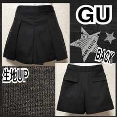 【GU】ストライプ織プリーツスカート風ショーパン