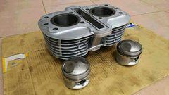 GS400実働シリンダー&ピストン0.5良品GT380CBX400エンジン キャブ マフラー ワイセコ