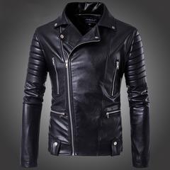 新品!上品質 メンズレザージャケット 皮革ジャケット黒 M~5XL