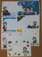 ▲自作ポストカード/電王+キバ/7枚