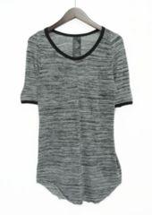 システレ/SISTERE リブ切替霜降りロング丈Tシャツ