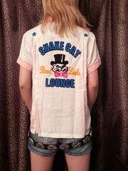 即決RNAミスターキャットボウリングシャツ!パンクロックロカビリーAMIAYASCANDALきゃりー