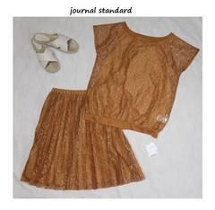 ジャーナルスタンダード*journal standardレースブラウス&プリーツスカート新品