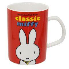 ◆ミッフィー 磁器製マグ/CLASSIC miffy レッド