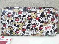 Disney/ミッキーマウスラウンドファスナー長財布