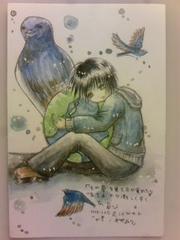 自作イラストオリジナル.男の子.4枚セット