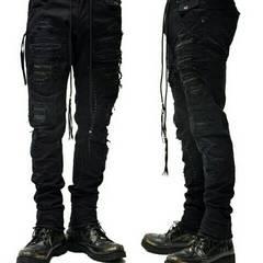 新品KMRIIケムリ SNAKE&GOATLEATHER Crush Skinny Pants 2