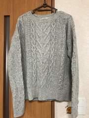 ユニクロ グレー セーター L