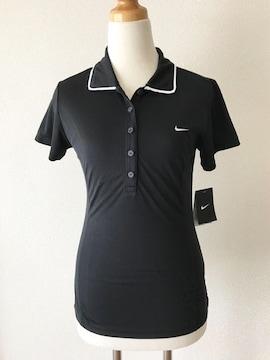 ☆新品☆[NIKE DRI-FIT]★黒色ポロシャツ・サイズ[S]★