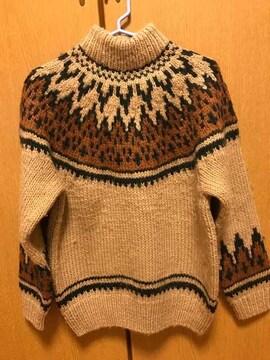 MAPLE CREEKS☆ブラウンハイネックセーター