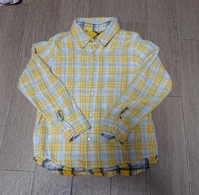 ダティオダディ★Daddy oh Daddy★120cmチェックシャツ!!美品 < ブランドの