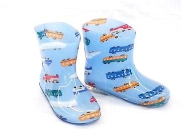 モンフレール レインブーツ 7008 14.0cm でんしゃブルー 長靴