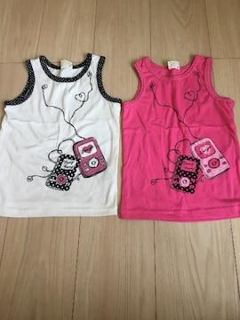 Boomy Roomyタンクトップシャツ☆2枚セット110