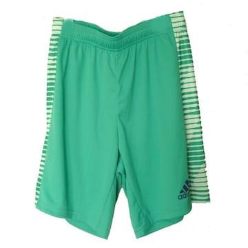 新品◆送料無料◆adidas緑プラクティスハーフパンツ(XO)