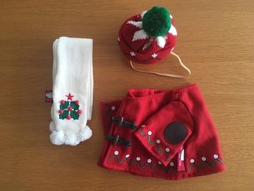 Duffy/ダッフィー クリスマスコスチューム Sサイズ(43cm)用
