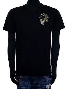 新品ネスタ72NB1005スパンフライスVネックTシャツM黒