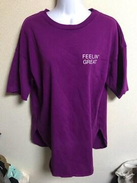 ★GU オーバーサイズロゴTシャツ  L★
