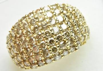 【鑑別】ゴージャス K18 合計 3.00ct ダイヤモンドリング 13号