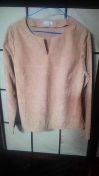 Rouquineスェード風シャツ