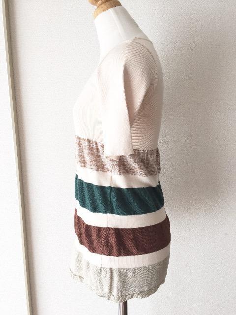 [roberto collina]★半袖セーター・ボーダー柄デザイン★ < 女性ファッションの