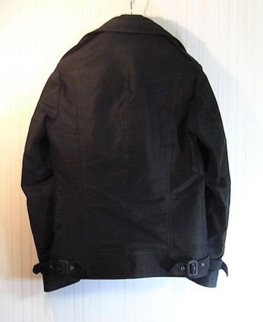size44☆美品☆シェラック レザーバックル付Pコート < ブランドの