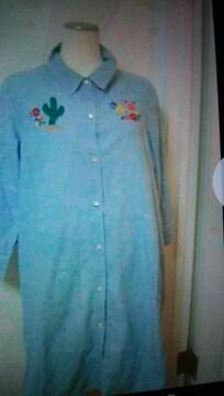 チチカカシャツワンピース7分丈Lサイズ7549円