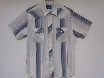 即決USA古着●ラングラーデザンウエスタン半袖シャツ!アメカジビンテージ