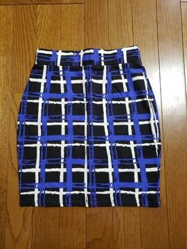 moussyチェックタイトスカート未使用