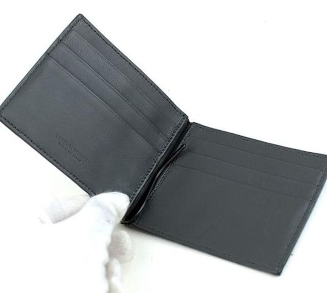 ボッテガ・ヴェネタ マネークリップ カード入れ 黒 極美品 h543 < ブランドの