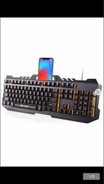 ゲーミングキーボード SmartPlus USBキーボード LEDバックライト