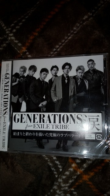 GENERATIONS from EXILE      TRIBE涙  < タレントグッズの
