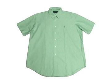 セール新品PolobyRalphLaurenポロラルフローレンクラシック半袖シャツXLグリーン